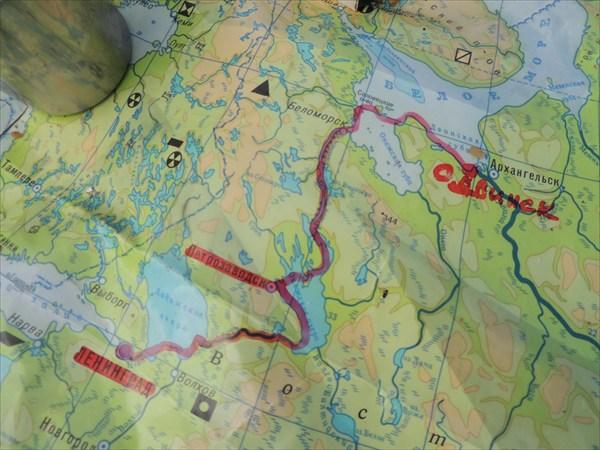на фото: Карта маршрута