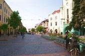 В центре Мукачево - пешеходная улица