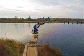 Частично плавучий мостик