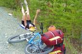 Поза отдыхающего велосипедиста