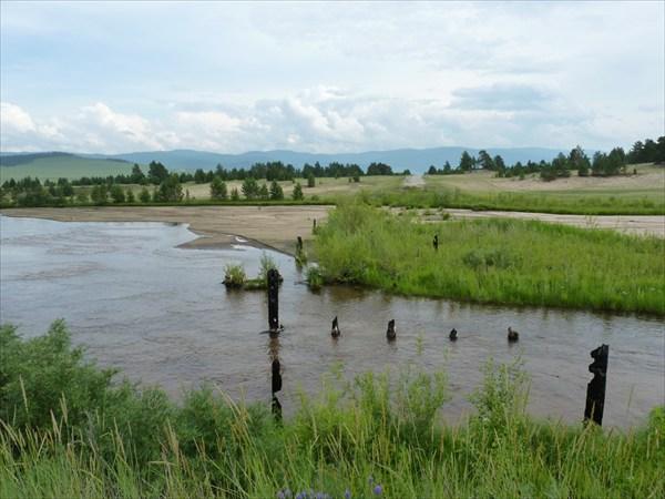 На реке Улан-Бурга (мосты  по-бурятски…)