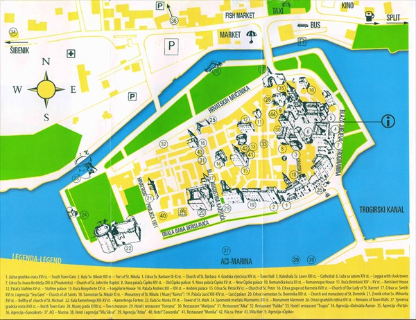 030-Трогир-карта