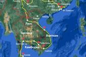 Нитка маршрута нашего велопутешествия по Китаю и ЮВА