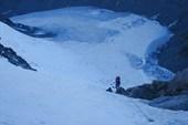 DSC03340 Подъём на перевал Делоне. Вид с седловины перевала.