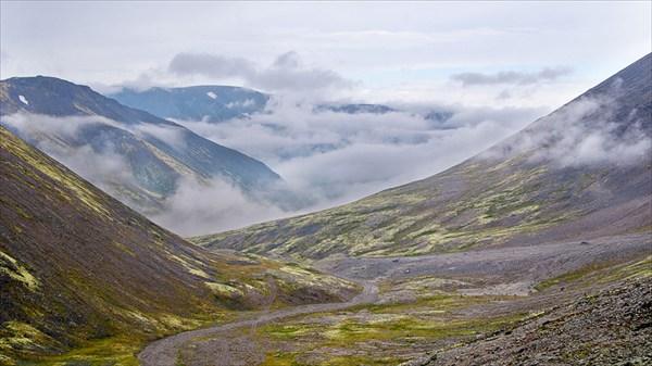 Погода в Хибинах с перевала Рисчорр Южный