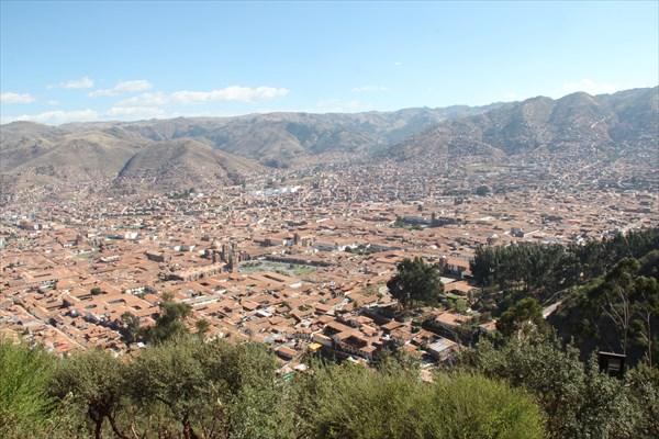Вид на Куско с высоты