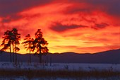 Закат над озером Тургояк