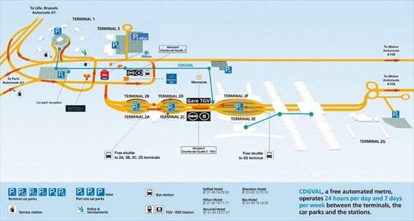 План аэропорта Шарль-де-Голля
