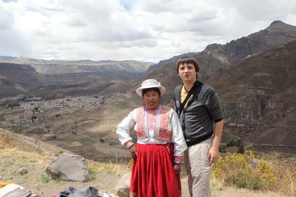 Перуанка возле Каньона Колки