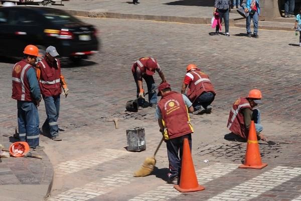 Дорожные рабочие в Куско