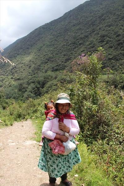 Перуанка в джунглях