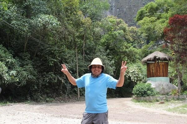 Hever у ворот в Мачу-Пикчу