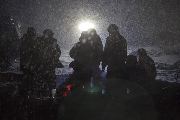 Ночёвка на льду р. Мурхой