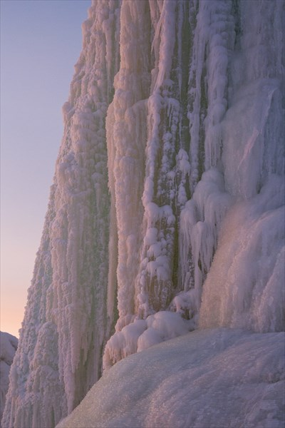 Лед на закате