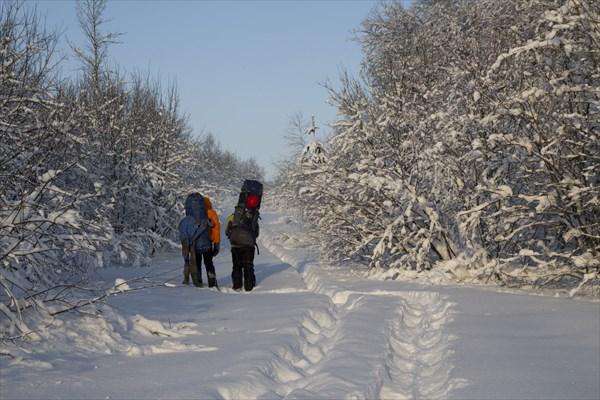 Зимняя дорога. По пути в Мариинскую пещеру.