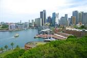 Вид на все Сиднейские небоскребы с Харбор-Бридж