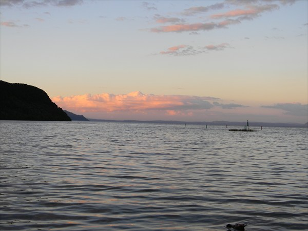 Вечер у озера Taupo