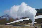 Одна из скважин в окрестностях гидротермальной электростанции