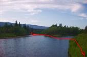 Переправа через реку Дурная. Глубина до 80 см