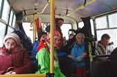 развеселые в автобусе