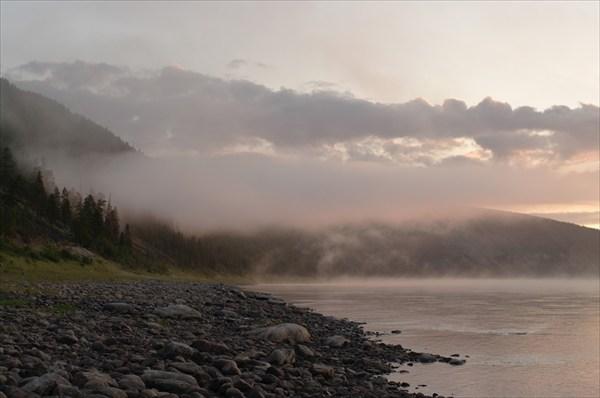 Закат на Олёкме