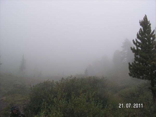 Вид по тропе на Каратюрек