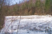 Это ледовое поле ожидает нас на второй день сплава.