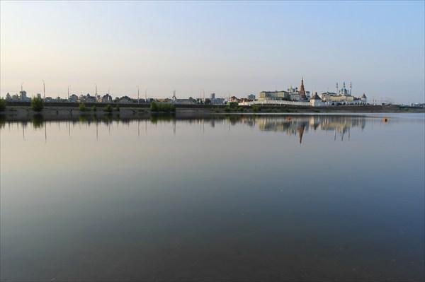 Утро на берегу реки Казанка