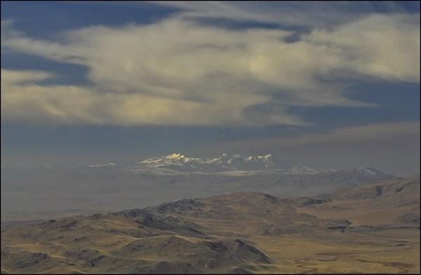 Северо-Чуйский хребет с подъема на Сайлюгем
