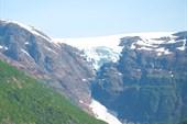 Краешек ледника от  фьорда