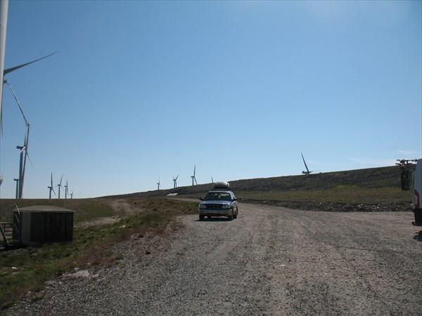 Поле ветряков за г. Хаавьёсунд