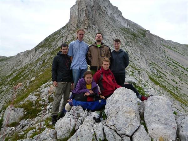 Вся команда на перевале