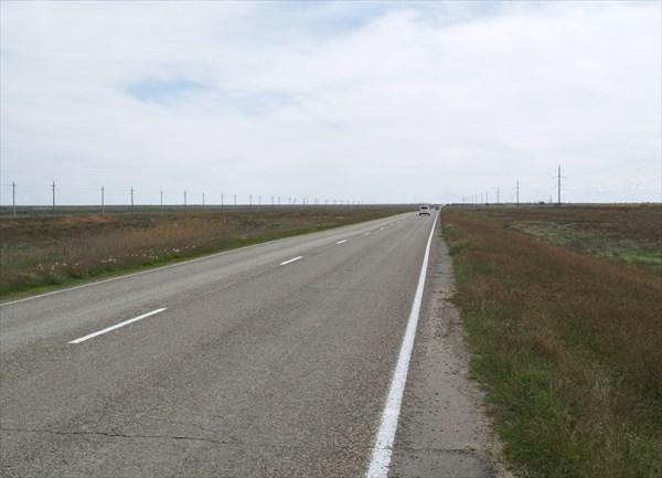 Дорога Ахтубинск - озеро Баскунчак