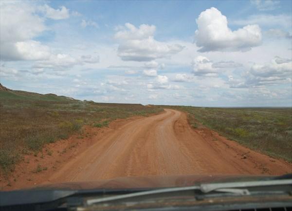 Дорога в Богдинско-Баскунчакский заповедник