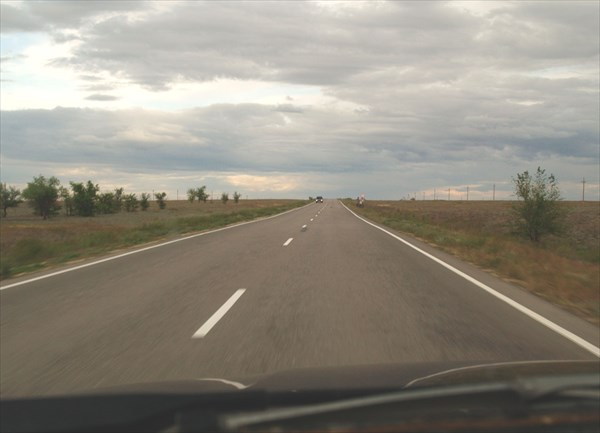 Дорога из Ахтубинска в Астрахань