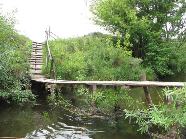 Деревянный мостик за Ожогой