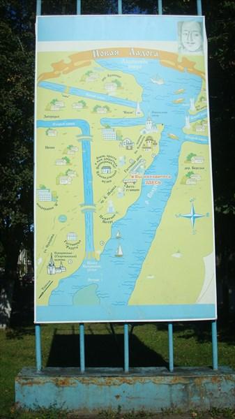 Карта Новой Ладоги