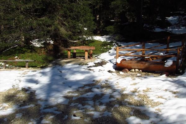 Сушка и обед в лесу над Ponticello