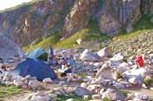 Лагерь на `Райских ночевках`