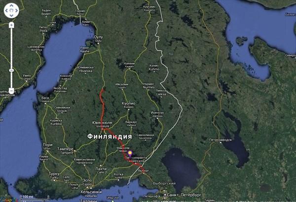 Схема проезда в первый день поездки
