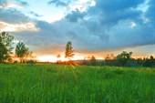 Закат на Чуне.