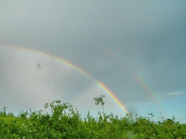 Двойная радуга - к удаче!