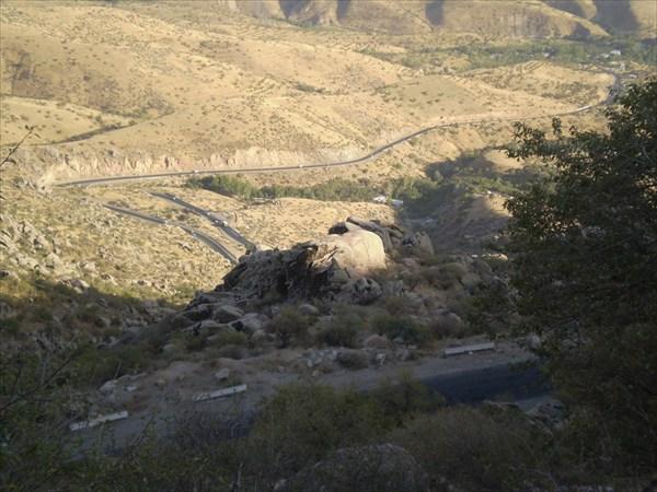 Вид с верха перевала