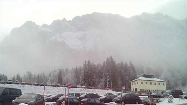 Был сильный туман и трассы были закрыты