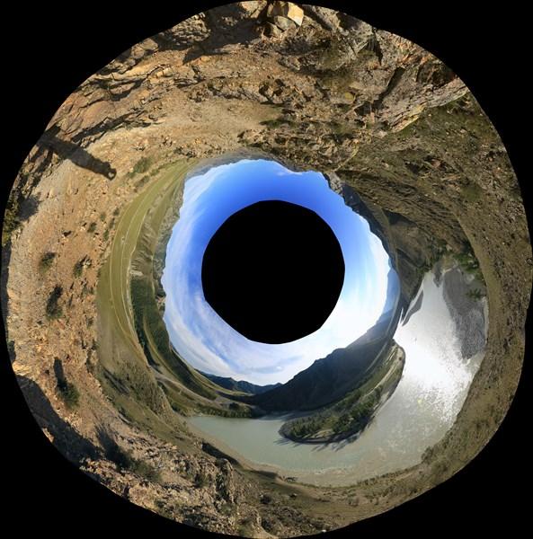 Паномара 360о на впадении Чуи в Катунь