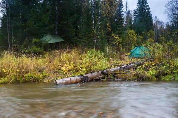 Лагерь на реке Куваш