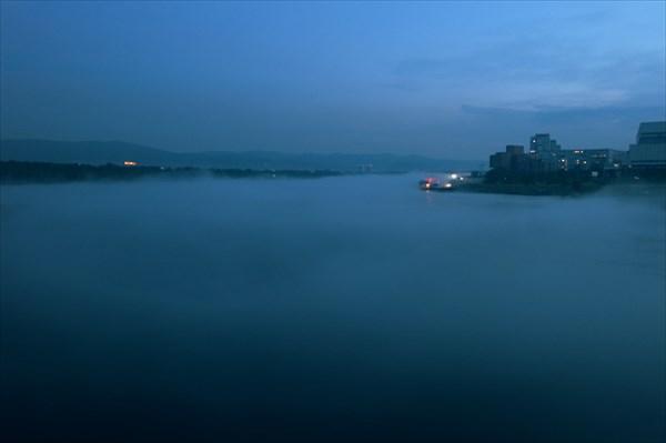 Енисей в тумане