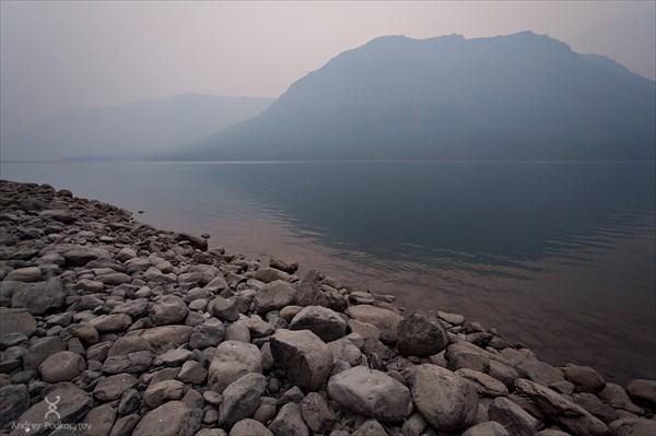 Шайтан-гора на озере Лама