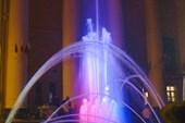 Ахтубинск. Переносной фонтан у Дома Офицеров