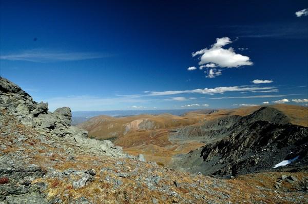 Вид с горы 2808 на верховья р. Кучерлуайры